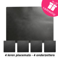 Leren placemat set
